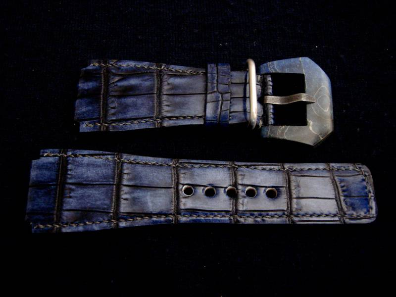 Straps Made from Acid Blue Alligator