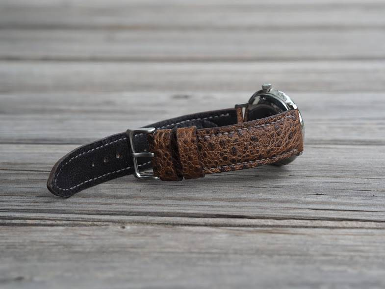 Watch Strap made from Cane Toad for Junghans Max Bill watch
