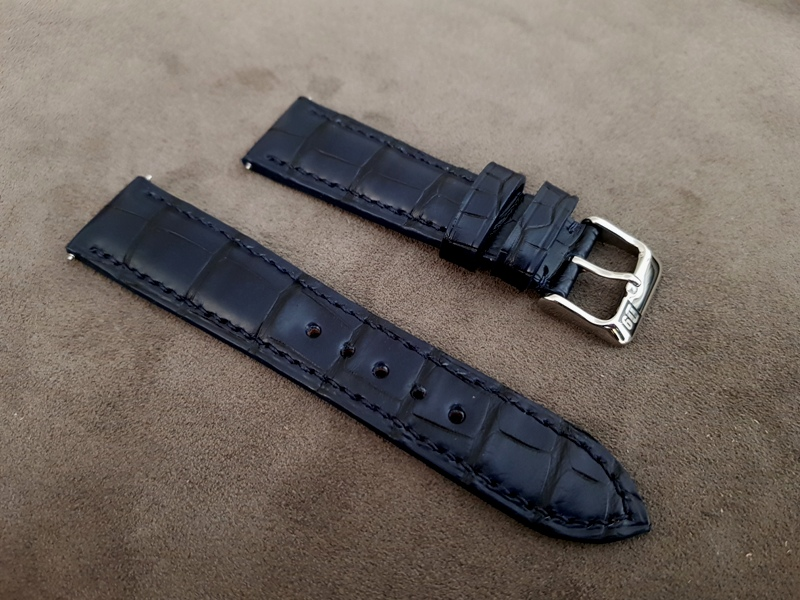 Straps Made from Deep Blue Alligator