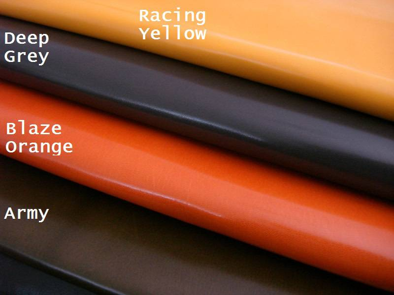 Kidskin watch strap Lining leather Colors: Racing Yellow, Deep Grey, Blaze Orange, Army