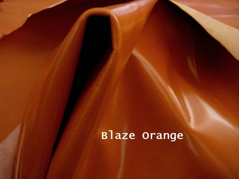 Kidskin watch strap Lining leather Color: Blaze Orange