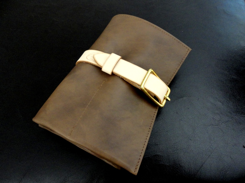 Caramel-Calfskin-Watch-&-Strap-Travel-Roll-with-Coco-Suede-Leather-lining
