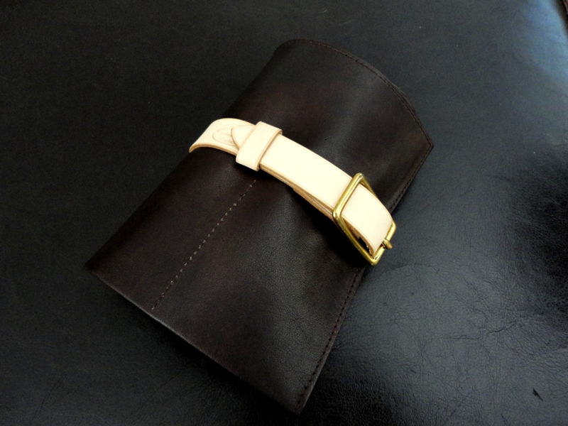 Watch-&-Strap-Travel-Roll-Incas-Mahogany-Kangaroo-with-Mustard-Suede-Leather-Lining