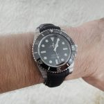 SuperMatte Black Alligator strap for Rolex Sub with Integrated fit