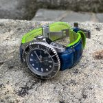 Custom dyed Alligator Hand Antique Finish Blue fade to black for Rolex Deep Sea D-Blue with our Fully Integrated Fit