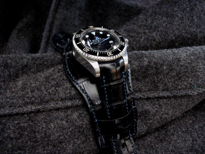 Rolex Deep Sea on Ebony Alligator Bund strap
