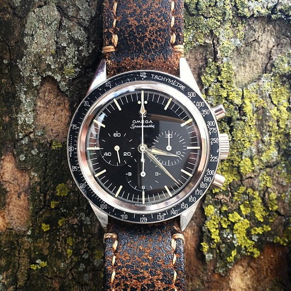 Omega Speedmaster on Super Distressed leather strap