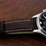 Jurassic-Chocolate-African-Goat-Leather-Watch-Strap-for-iwc-big-pilot-3
