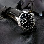 Black-Ostrich-Leg-watch-strap-for-IWC-Big-Pilot-with-Integrated-fit