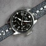 Black-Row-Stone-Stingray-watch-strap-for-IWC-Big-Pilot-1