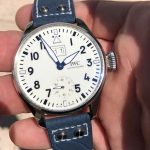 Deep-Atlantic-Blue-Ostrich-Leg-skin-watch-strap-with-rivets-for-IWC-Big-Pilot-6
