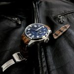 Hand Antiqued Alligator watch strap for IWC Big Pilot with Integrated Fit