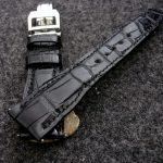 'Million Dollar Black' Alligator watch strap for IWC Big Pilot