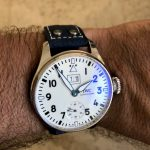 Deep-Atlantic-Blue-Ostrich-Leg-skin-watch-strap-with-rivets-for-IWC-Big-Pilot-5