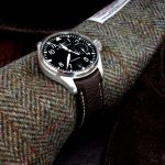 Jurassic Chocolate African Goat leather watch strap for IWC Big Pilot with Integrated fit