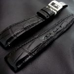 'Million Dollar Black' Alligator Watch Strap for IWC Big Pilot with Integrated Fit