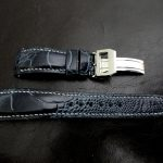 Monaco-Blue-Ostrich-Leg-skin-watch-strap-for-IWC-Big-Pilot-with-Integrated-Fit-6