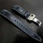 Monaco-Blue-Ostrich-Leg-skin-watch-strap-for-IWC-Big-Pilot-with-Integrated-Fit-5
