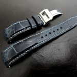 Monaco-Blue-Ostrich-Leg-skin-watch-strap-for-IWC-Big-Pilot-with-Integrated-Fit-4