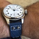 Deep-Atlantic-Blue-Ostrich-Leg-skin-watch-strap-with-rivets-for-IWC-Big-Pilot-2