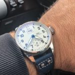 Deep-Atlantic-Blue-Ostrich-Leg-skin-watch-strap-with-rivets-for-IWC-Big-Pilot-1