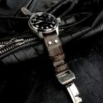 Tourbe-Brune-Alligator-watch-strap-for-IWC-Big-Pilot-with-Rivets-at-the-lugs-7