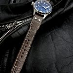 Tourbe-Brune-Alligator-watch-strap-for-IWC-Big-Pilot-with-Rivets-at-the-lugs-6