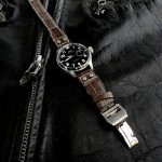 Tourbe-Brune-Alligator-watch-strap-for-IWC-Big-Pilot-with-Rivets-at-the-lugs-5