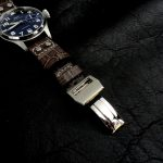 Tourbe-Brune-Alligator-watch-strap-for-IWC-Big-Pilot-with-Rivets-at-the-lugs-4