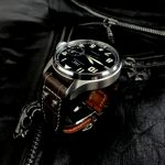 Tourbe-Brune-Alligator-watch-strap-for-IWC-Big-Pilot-with-Rivets-at-the-lugs-2