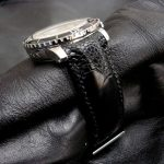 Custom-Satin-Black-Ostrich-Leg-Watch-Strap-with-Integrated-Fit-for-Blancpain-Fifty-Fathoms