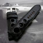Custom-Satin-Black-Rally-watch-strap-for-Blancpain-Fifty-Fathoms