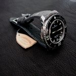 Custom-Etain-Grist-Pewter-Grey-Alligator-Watch-Strap-for-Blancpain-Fifty-Fathoms-with-integrated-fit