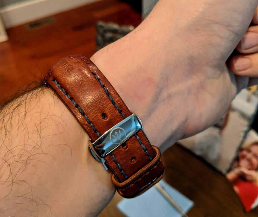 Joe's Offshore Professional Chronograph on 1967 Swiss Ammo strap with TCLS fit