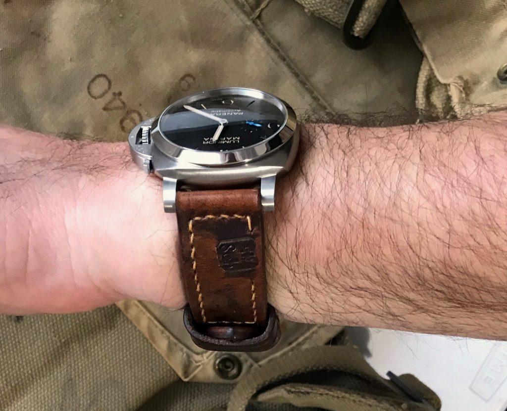 Custom Watch Straps Customer Photos -PAM1312 on Swiss Ammo strap