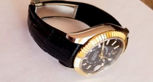 Lucian's Million Dollar Black Alligator on Rolex Sky-Dweller