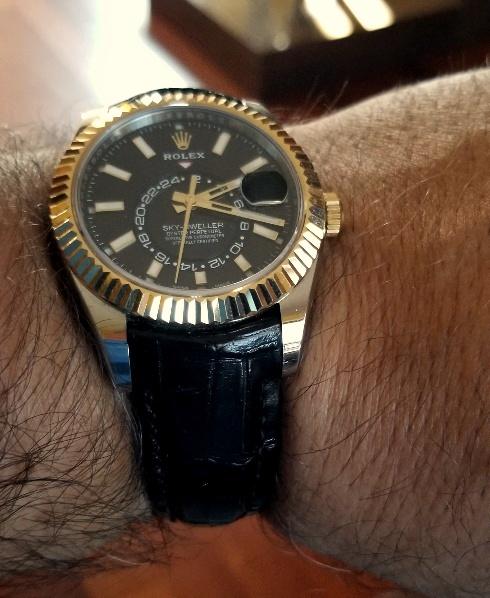 Lucian's Million Dollar Black Alligator on Rolex Sky-Dweller