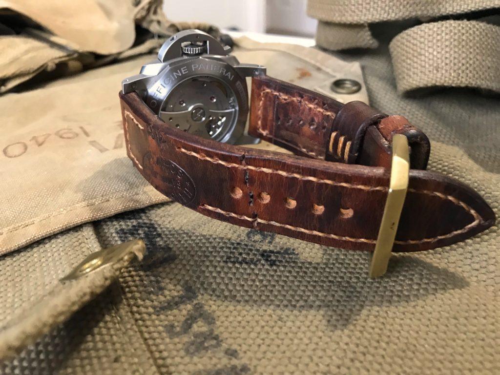 Custom Watch Straps Customer Photos - Darek's PAM1312 on 1938 Swiss Ammo strap
