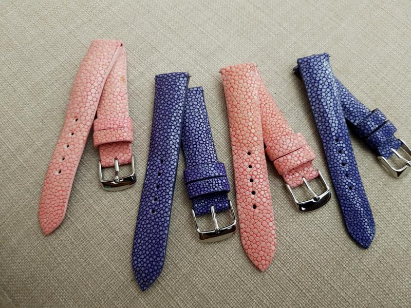 Pink and Purple Stingray handmade Watch straps For Sale - Dangerous9straps