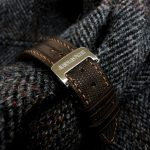 Custom watch strap for Audemars Piguet 15400 made from Tobacco Brown Teju Lizard