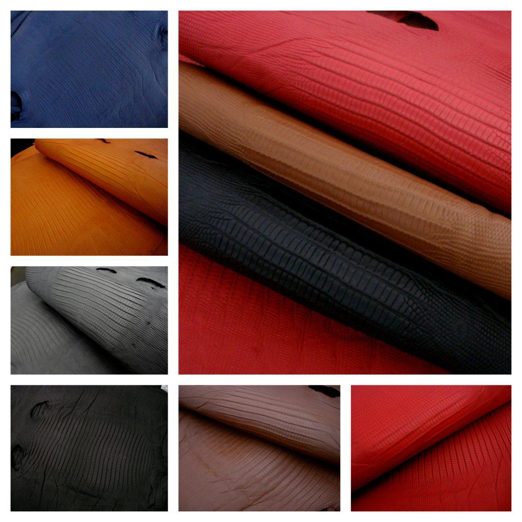 In stock SuperMatte Teju Lizard - perfect for your custom watch strap and lining leather!