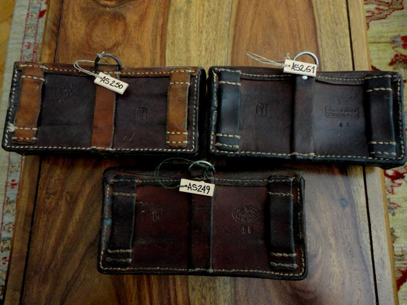 Pre-1960s Swiss Ammo Pouches in Current Stock for your Custom watch straps