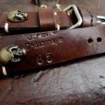 1965 Swiss Ammo strap with Bronze Skull Rivets