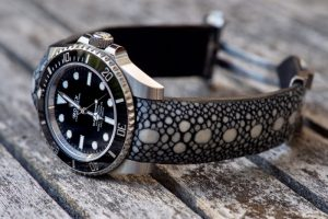 Rolex Submariner on Rowstone Stingray