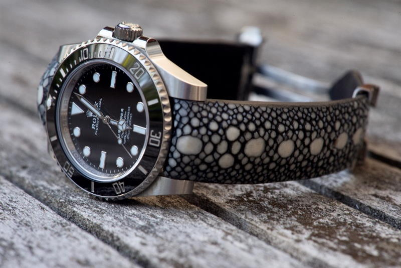 Rolex Submariner on Rowstone Stingray Watch strap:
