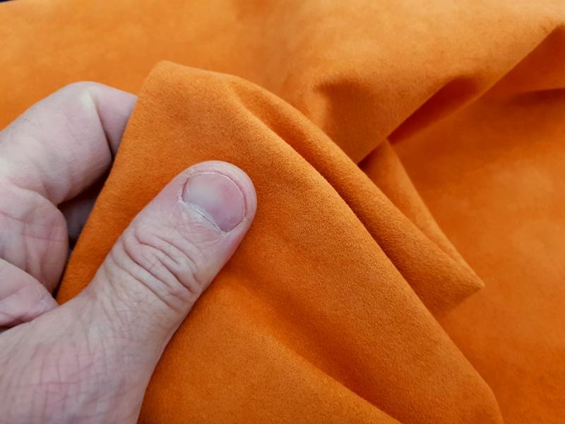 Lambo Orange - Alcantara Luxury Suede-Like MicroFiber Linings