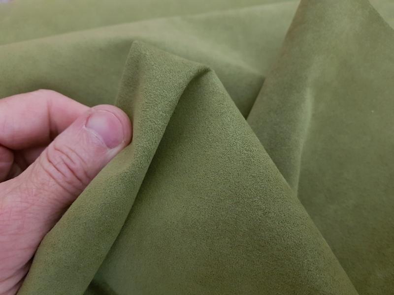 Olive - Alcantara Luxury Suede-Like MicroFiber Linings