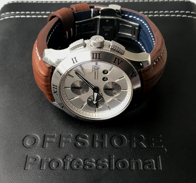 SuperMatte Teju Lizard straps for Offshore Professional Chronograph