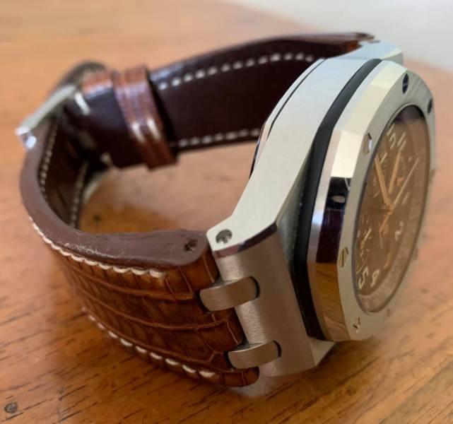 Custom Watch Strap for Audemars Piguet Royal Oak - Lizard strap