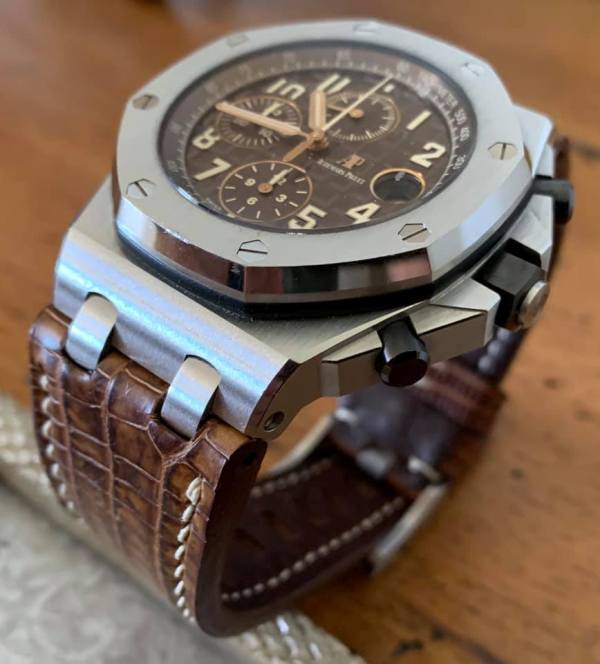 Custom Watch Strap for Audemars Piguet Safari - Vintage Dakar Teju Lizard